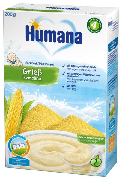 Хумана Бебешка каша млечна с царевичен грис след 4м+ 200гр
